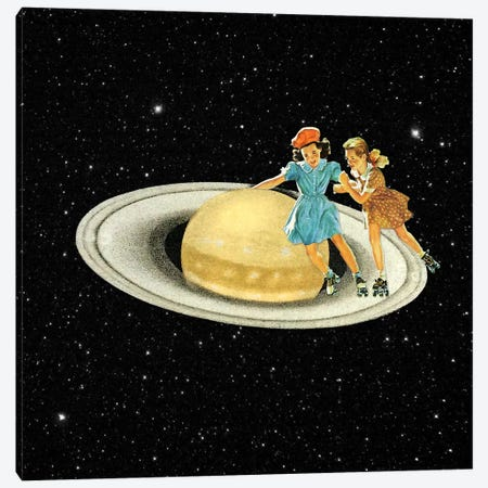 Eugenia Loli - Stroll On Saturn Canvas Print #EUG33} by Eugenia Loli Canvas Wall Art
