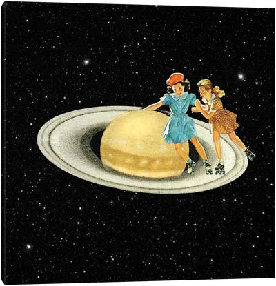 Eugenia Loli - Stroll On Saturn Canvas Art Print