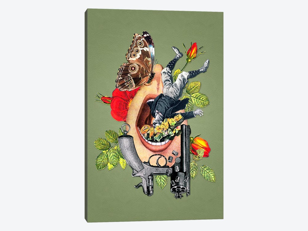 Eugenia Loli - Throttled Infrastructure by Eugenia Loli 1-piece Canvas Wall Art