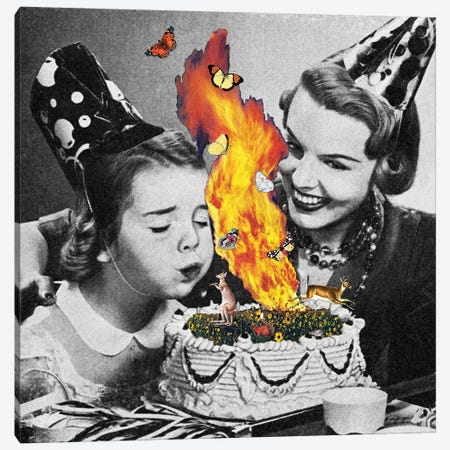 Eugenia Loli - Come On Darling Make Their Wish Canvas Print #EUG40} by Eugenia Loli Canvas Print