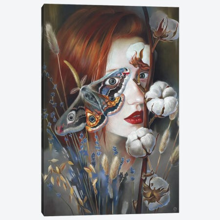 Moth Canvas Print #EUS10} by Eugenia Shchukina Canvas Artwork