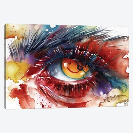Pirate Eye Canvas Print #EUS12} by Eugenia Shchukina Canvas Artwork