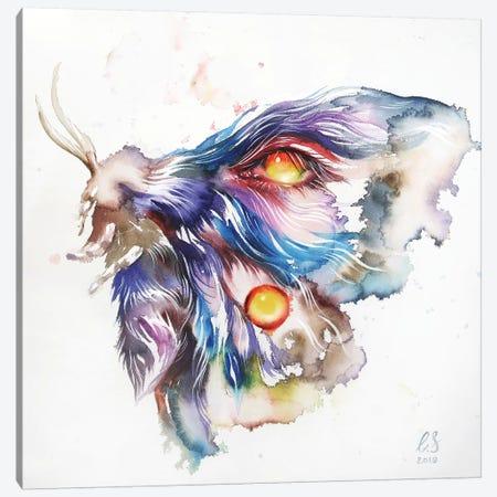 Watercolor Moth Canvas Print #EUS18} by Eugenia Shchukina Canvas Artwork