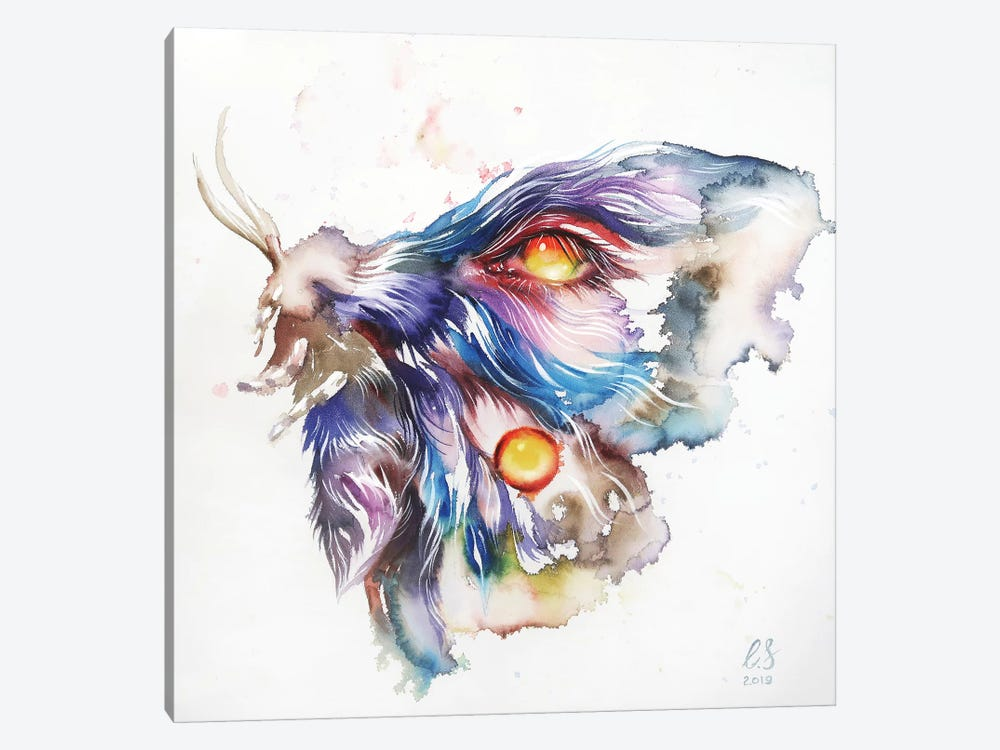 Watercolor Moth by Eugenia Shchukina 1-piece Canvas Art
