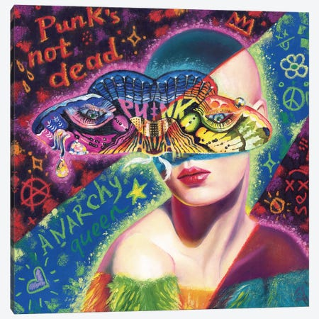Wight Punk Canvas Print #EUS19} by Eugenia Shchukina Canvas Artwork