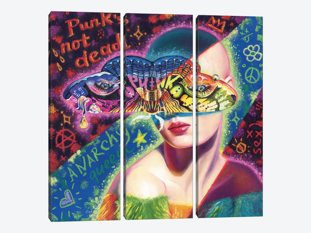 Wight Punk by Eugenia Shchukina 3-piece Canvas Print