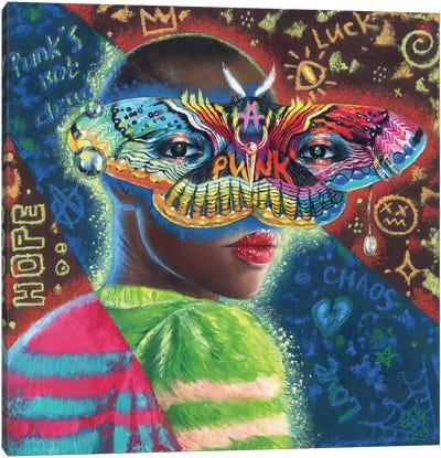 Black Punk Canvas Art Print