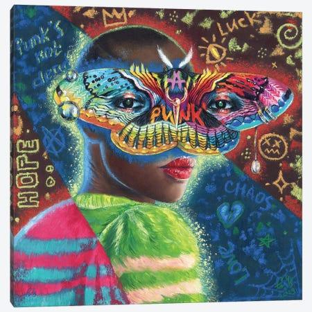 Black Punk Canvas Print #EUS2} by Eugenia Shchukina Canvas Art
