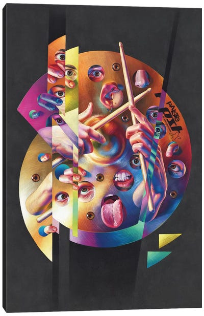 Crazy Swiss Canvas Art Print