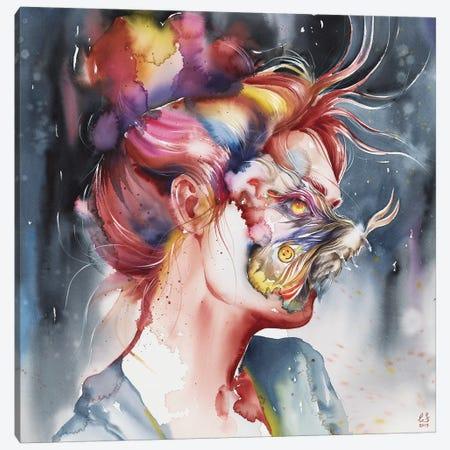 Mask Canvas Print #EUS9} by Eugenia Shchukina Canvas Artwork