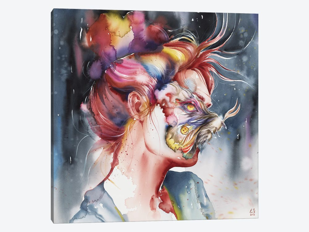 Mask by Eugenia Shchukina 1-piece Canvas Wall Art