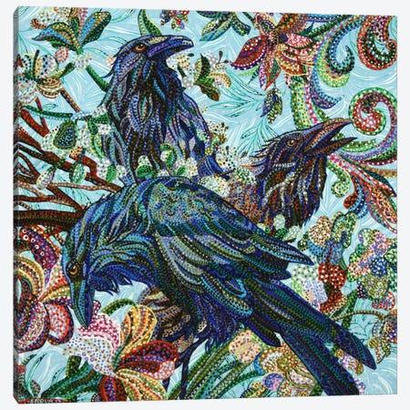 3 Birds Canvas Print #EVA1} by Ebova Canvas Artwork