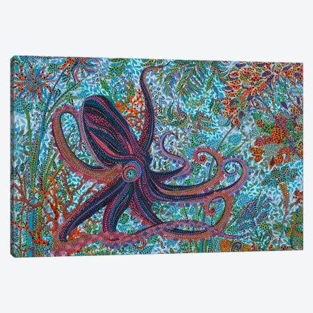 Octupus Canvas Print #EVA22} by Ebova Canvas Print