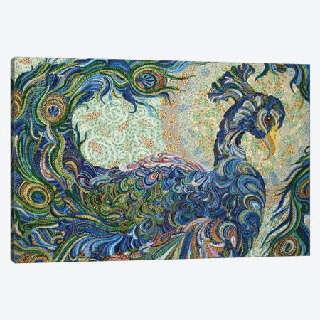 Peacock #2 Canvas Print #EVA23} by Ebova Art Print