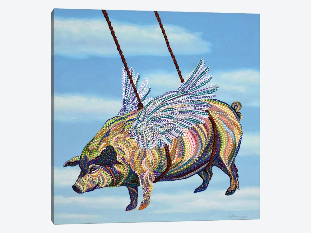 Pig by Ebova 1-piece Canvas Art