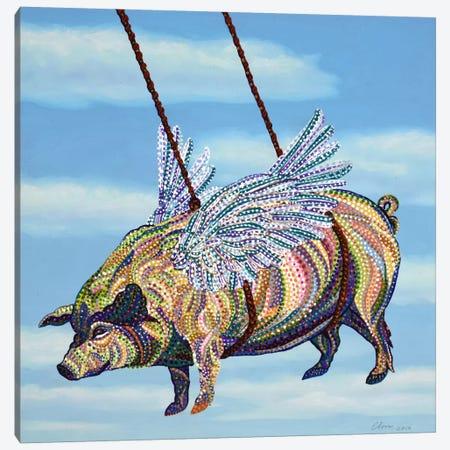 Pig Canvas Print #EVA25} by Ebova Canvas Artwork