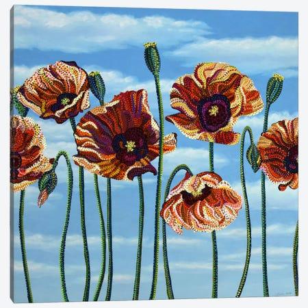 Poppies Canvas Print #EVA27} by Ebova Canvas Wall Art