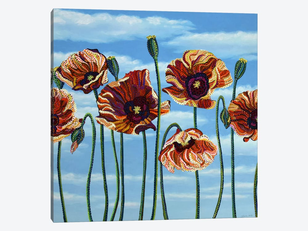 Poppies by Ebova 1-piece Canvas Wall Art