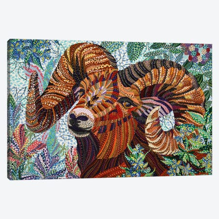Aries Canvas Print #EVA2} by Ebova Canvas Wall Art