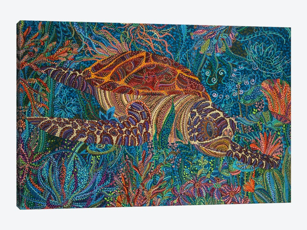 Turtle by Ebova 1-piece Canvas Artwork
