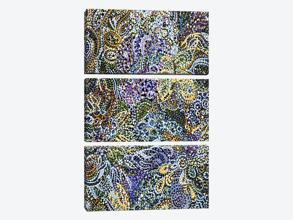 Late Snow by Ebova 3-piece Canvas Print