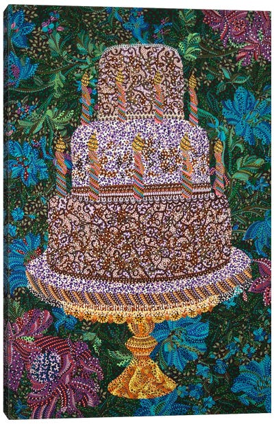 Birthday Cake Canvas Print #EVA4