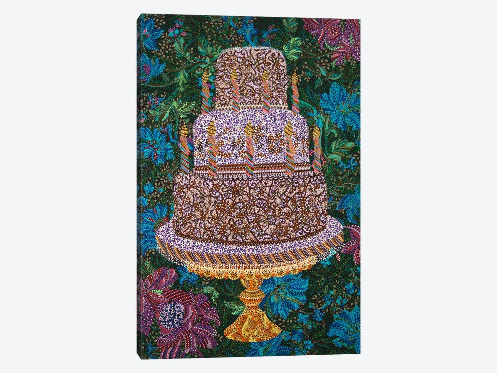 Birthday Cake by Ebova 1-piece Canvas Art Print