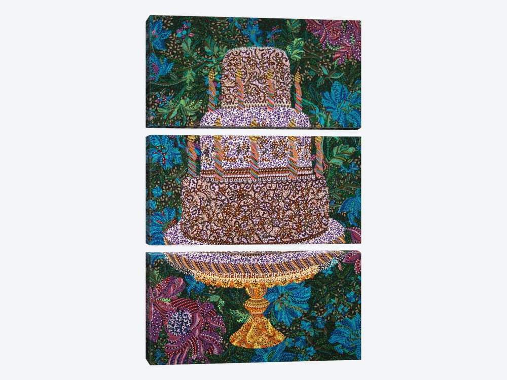 Birthday Cake by Ebova 3-piece Canvas Print