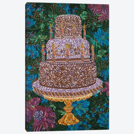 Birthday Cake Canvas Print #EVA4} by Ebova Canvas Print