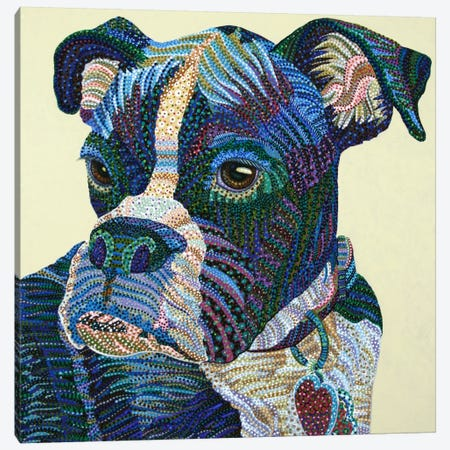 Boxer Portrait Canvas Print #EVA6} by Ebova Canvas Print
