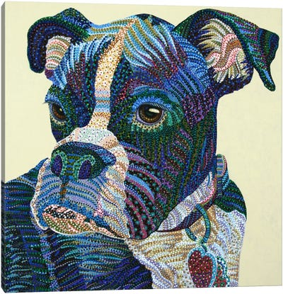 Boxer Portrait Canvas Art Print
