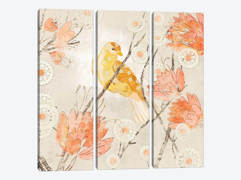 Avian Dreams III by Evelia Designs 3-piece Canvas Artwork