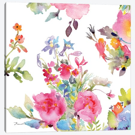 Watercolor Flower Composition I Canvas Print #EVD1} by Evelia Designs Canvas Art Print