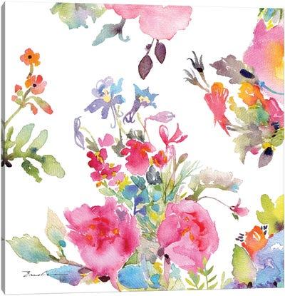 Watercolor Flower Composition I Canvas Art Print