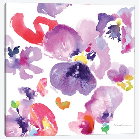 Watercolor Flower Composition III Canvas Print #EVD3} by Evelia Designs Canvas Print