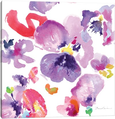 Watercolor Flower Composition III Canvas Art Print