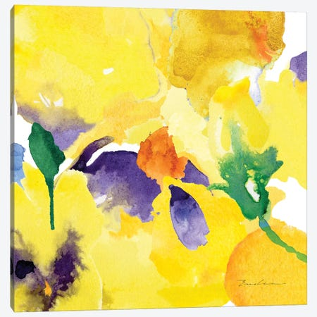 Watercolor Flower Composition V Canvas Print #EVD6} by Evelia Designs Canvas Art