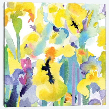 Watercolor Flower Composition VI Canvas Print #EVD7} by Evelia Designs Canvas Artwork