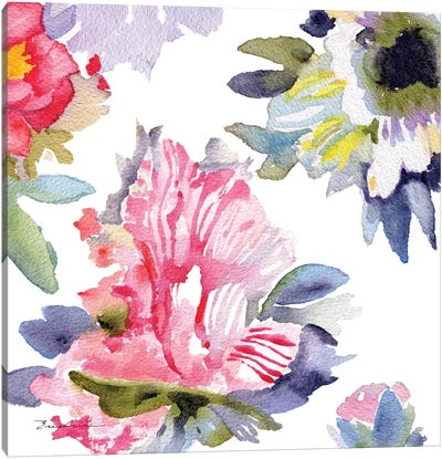 Watercolor Flower Composition VII Canvas Art Print