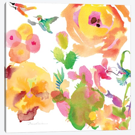Watercolor Flower Composition VIII Canvas Print #EVD9} by Evelia Designs Canvas Art Print