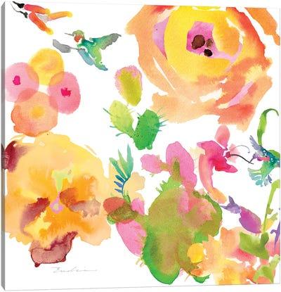 Watercolor Flower Composition VIII Canvas Art Print