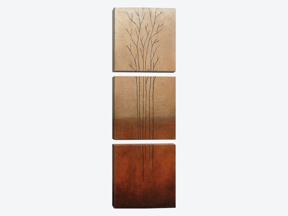 Branch Rouge I by Eve 3-piece Canvas Wall Art