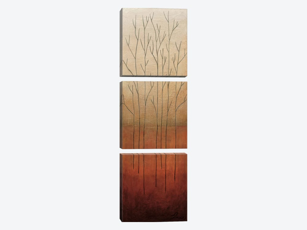 Branch Rouge II by Eve 3-piece Canvas Print