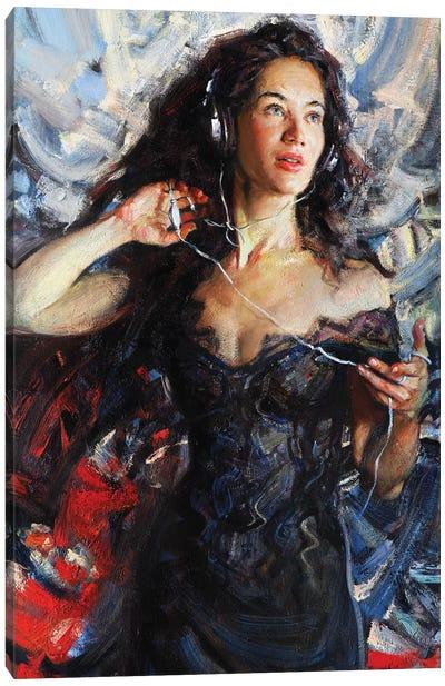 Music In My Mynd I: Singing Canvas Art Print