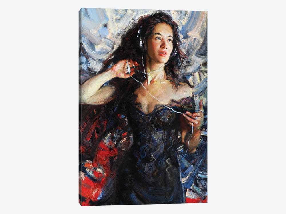 Music In My Mynd I: Singing by Evgeniy Monahov 1-piece Canvas Print