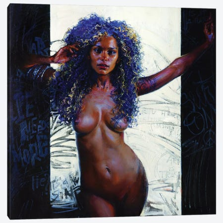 Opening The Door Canvas Print #EVG16} by Evgeniy Monahov Canvas Art Print