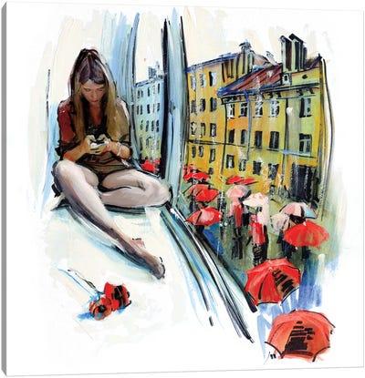 Rain In Saint Petersburg Canvas Art Print