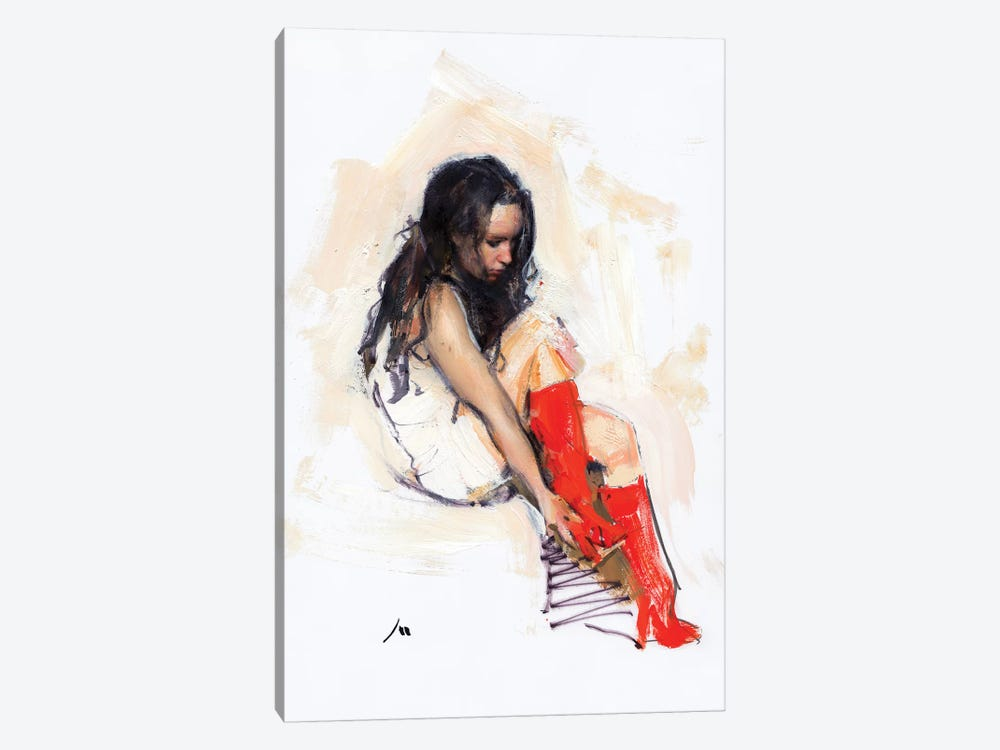 Red Boots by Evgeniy Monahov 1-piece Canvas Art Print