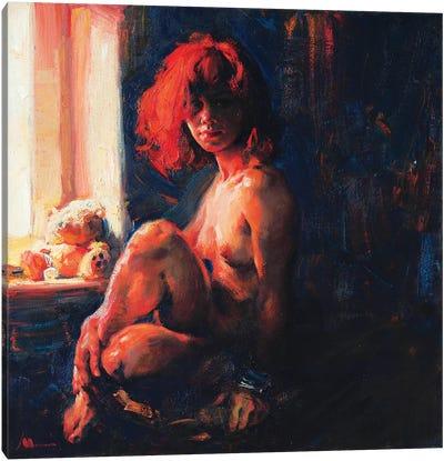 Redhead Canvas Art Print
