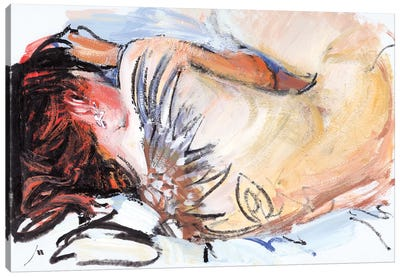 Sleeping Canvas Art Print